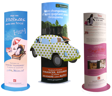 totem carton totems carton carton pas cher. Black Bedroom Furniture Sets. Home Design Ideas